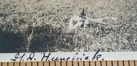 Antique 1918 Photograph WWI US ARMY SOLDIER Shooting Rifle GJ HUNCHIAK P... - $20.25