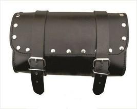 Black Studded Real Cowhide Leather Tool Bag For Harley Davidson - $37.36