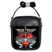 Bon Jovi Logo Custom Girls Sling Bag Handbag - $18.00
