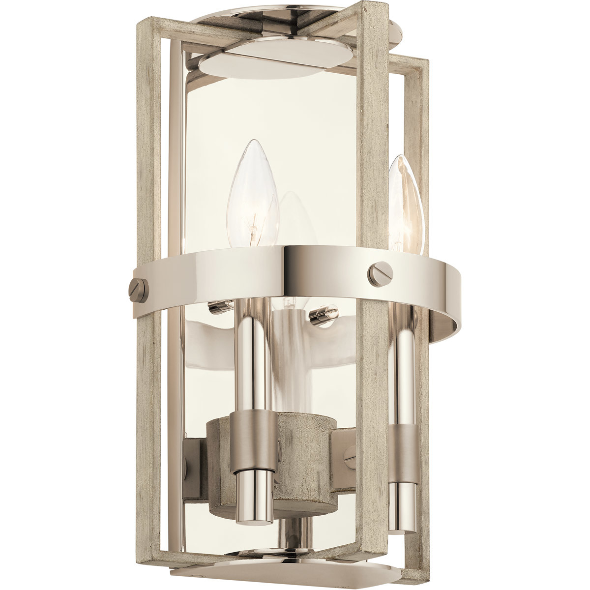 Kichler Lighting 44292WWW Wall Sconces White Washed Wood Steel Peyton - $309.99