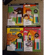 4x Beaver Books Color by Number Forest / Explorers / Reptiles / Nursery ... - $18.02
