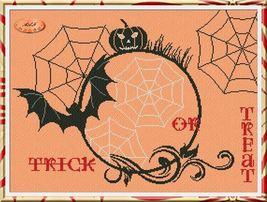 Halloween Atmosphere cross stitch chart Alessandra Adelaide Needlework - $15.30