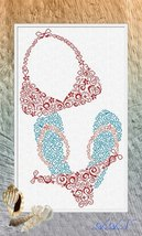Beach cross stitch chart Alessandra Adelaide Needlework - $16.20