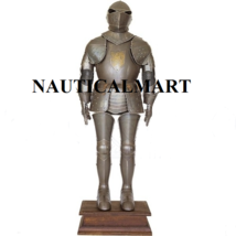 Medieval Knight Armor With Gold Lion Crest Wearable Halloween Costume - $1,299.00