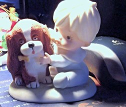 Homco Porcelain Boy with HIs Puppy 1424 EUC - $2.99