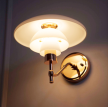 PH 3/2 Sconce LED Light Wall Lamp Glass & Iron Home Lighting Fixture Rep... - $195.00