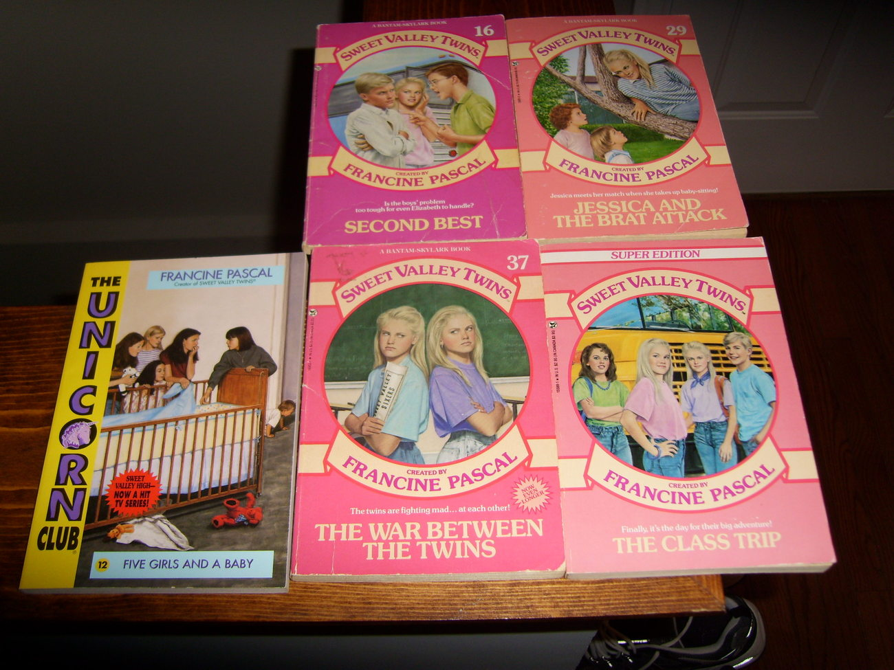 Sweet Valley Twins and The Unicorn club paperback book lot of 5 Francine Pascal