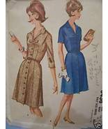 Fitted Coat Dress w/Gore Skirt - 1960's Pattern Bust 37 - $3.49