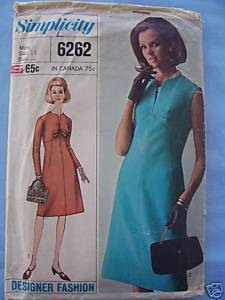 Vintage Simplicity Designer Stylish 1-Pc Dress - 14/34 Bonanza