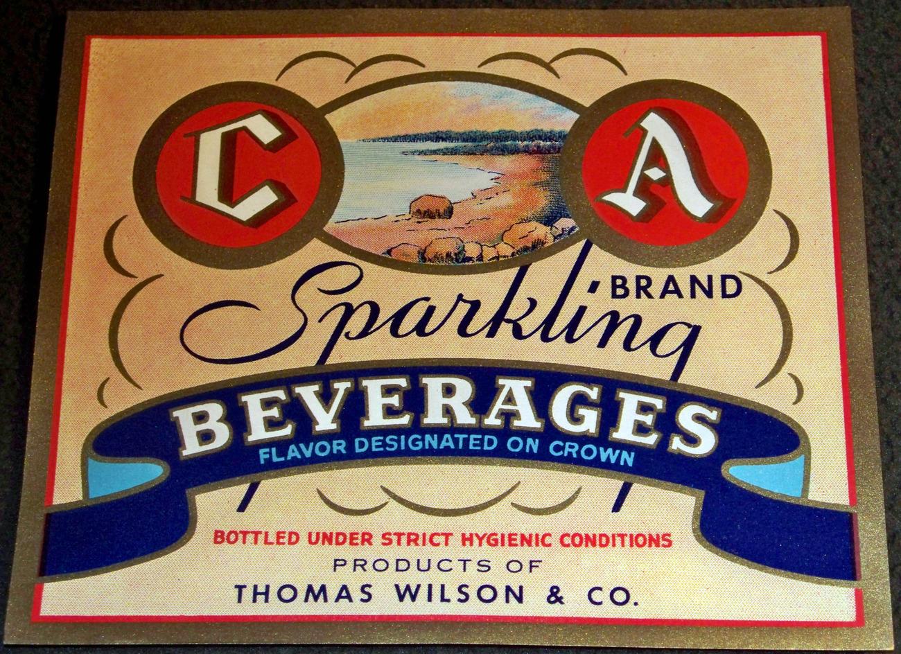 C a sparkling soda label 001