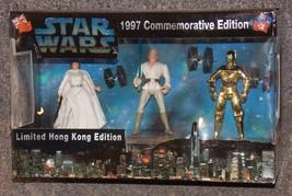 1997 Commemorative Edition Star Wars 3 Figure Boxed Set Limited Hong Kong Editio - $54.99
