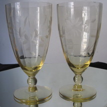 Antique Etched Glass Water Goblets - $80.00