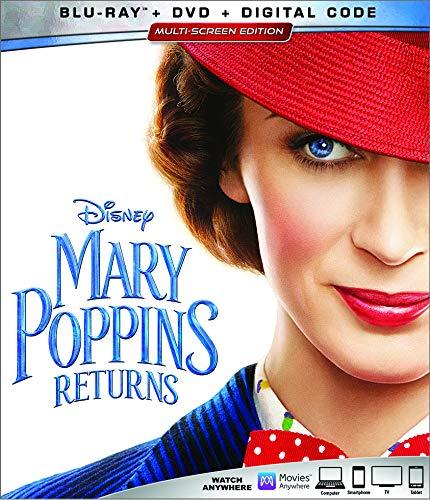 Disney Mary Poppins Returns  (Blu-ray + DVD + Digital, 2019)