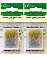 Two 2 Boxes Quantity 100 Clover Extra Fine Patchwork Pins ~ Article No. ... - $16.50