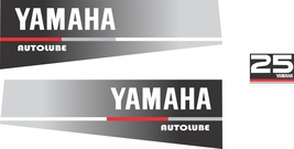 YAMAHA 25 AUTOLUBE - Outboard decal set, reproduction - $27.00