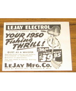 1950 AD~LEJAY ELECTROL ELECTRIC FISHING MOTORS~TROLLING - $3.95