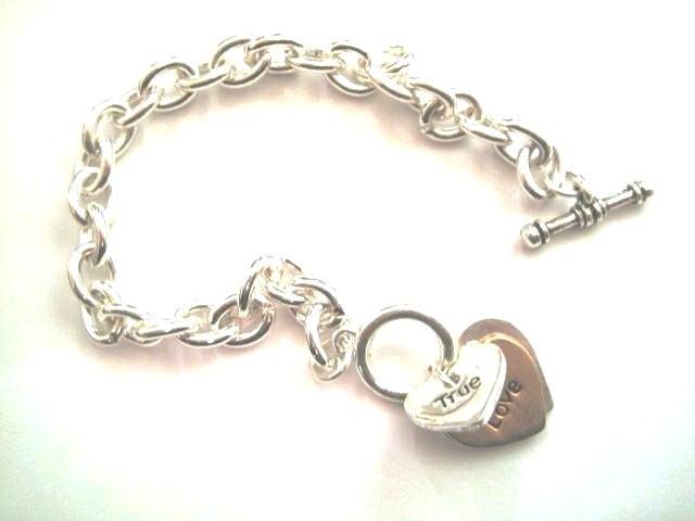 Br50 true love forever heart bracelet
