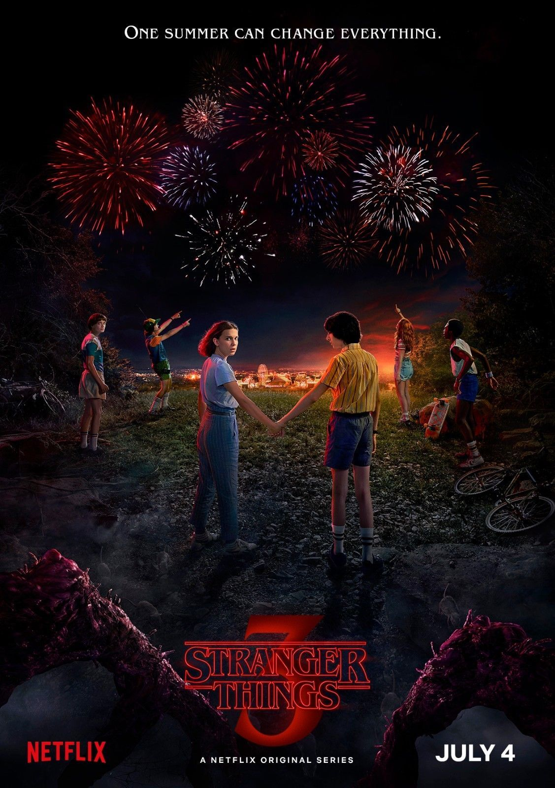 "Primary image for Stranger Things Poster Season 3 Netflix TV Series Art Print Size 24x36"" 27x40"""