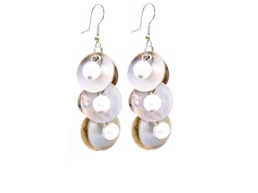 Cheap Jewelry Shell Fashionable Earrings Natural Mopa Shell