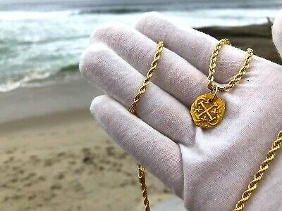 PERU 1 ESCUDO 1736 PENDANT NECKLACE PIRATE GOLD COINS JEWELRY TREASURE DOUBLOON image 4