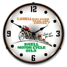 Shell Motorcycle Oil Lighted Clock - $129.95