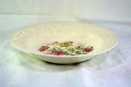 "Homer Laughlin Floral TH6 J47N5 Rimmed Soup Bowl 8 1/4"" - $5.03"