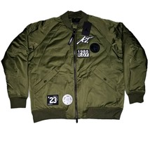 Nike Air Jordan Sportswear Greatest J-1 Bomber Jacket Mens Size L XL Oli... - $143.99