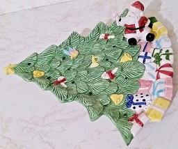 "Fitz & Floyd Christmas Tree Dish W/Santa Sitting UP On It - 1994 - 9"" x 8"" - $17.99"