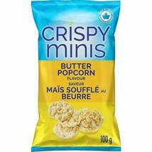 3x Quaker Crispy Minis Butter Popcorn Rice Chips 100g/3.52oz Canada ALWAYS FRESH - $19.75