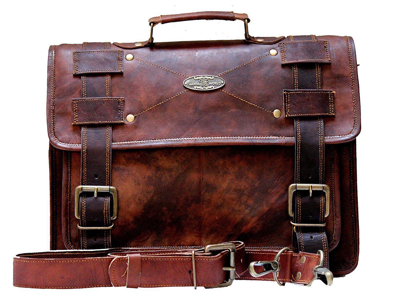 Handmade_World Men's Leather Messenger Bag Laptop Computer Handmade Bag image 3