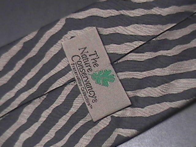 The Nature Conservancy Neck Tie Zebra Karen Bierce Greenish Browns Greys Black