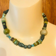 Vintage Chunky Sterling Turquoise Bead Choker Necklace - $295.00