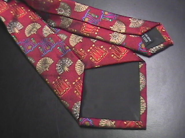 Boxelder Dress Neck Tie Rich Reds Blues and Golds Made in Italy