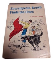 Vintage 1966 Encyclopedia Brown Finds the Clues PB book D Sobol TX995 1st ed SBS - $3.99