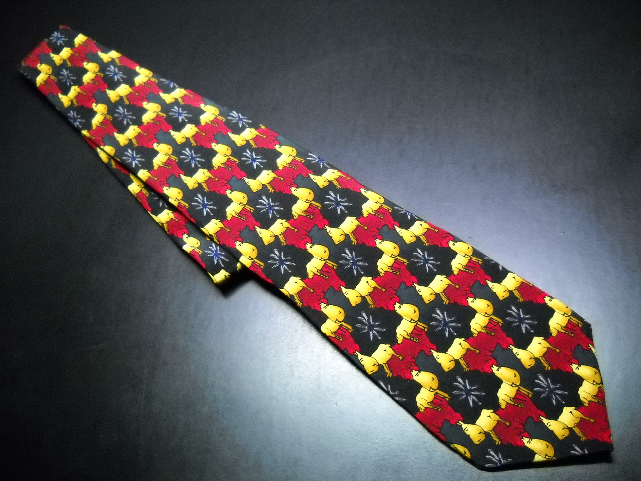 Tie j garcia 1996 special christmas limited edition black with gold   red 01