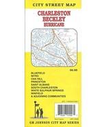 MAP OF CHARLESTON - BECKLEY - HURRICANE - BLUEFIELD WEST VIRGINIA /HUGE ... - $14.85