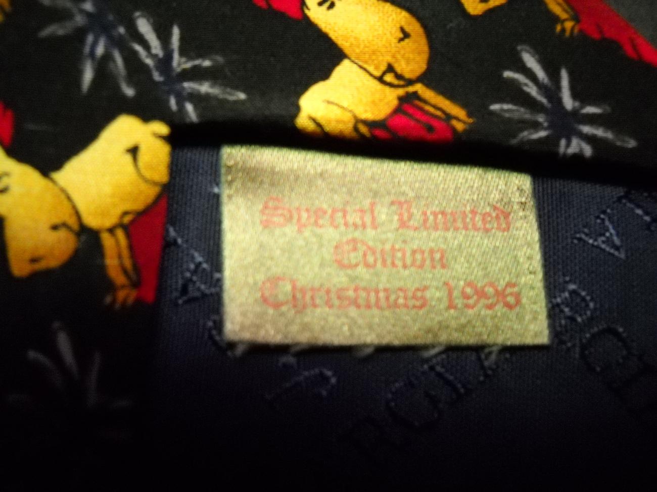 J Garcia Neck Tie Christmas 1996 Special Edition Golds Reds Greens Reindeer