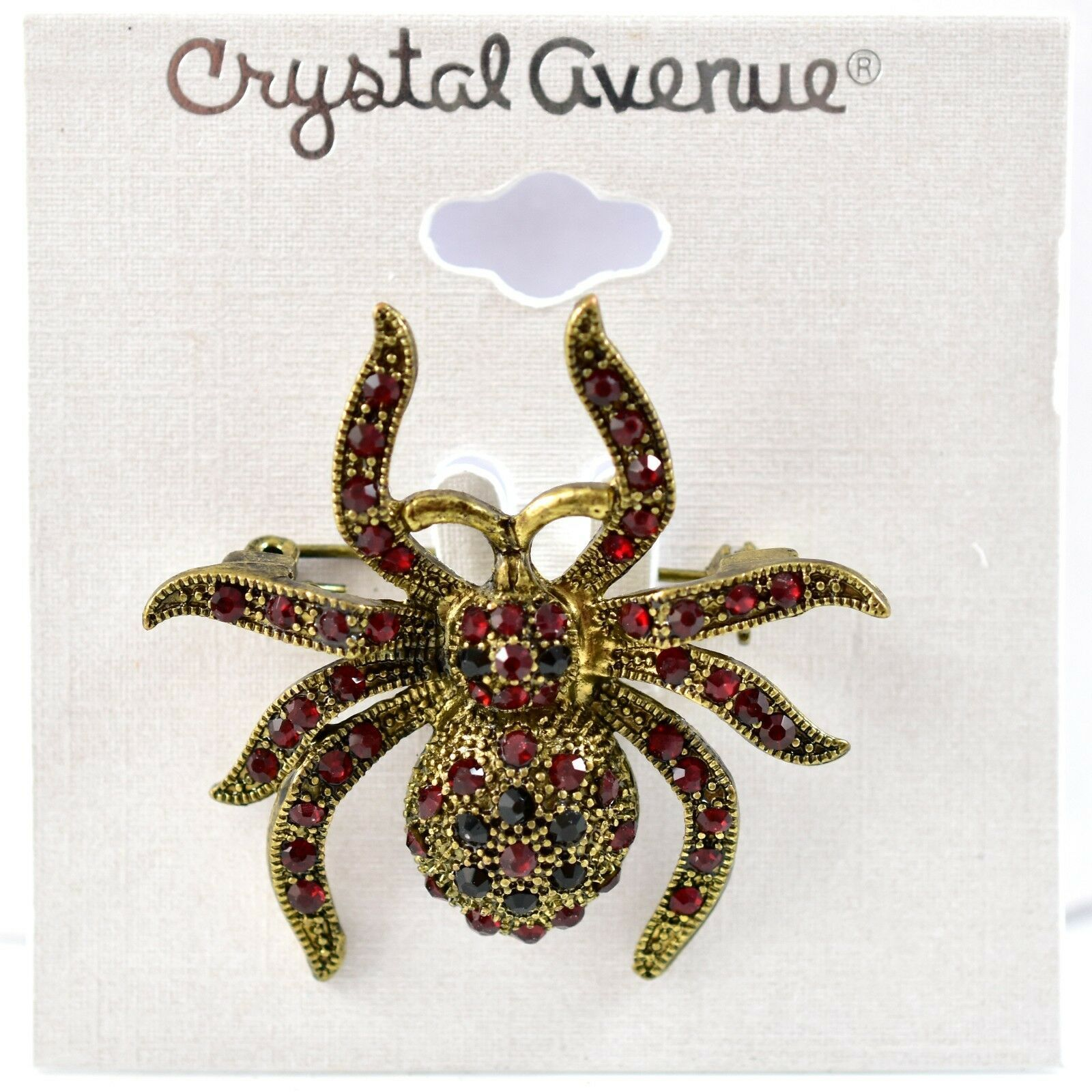 Crystal Avenue Halloween Lucite Tarantula Spider Pin Brooch