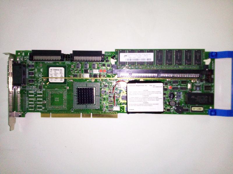 DELL AMI 044TXF PCI DUAL CHANNEL SCSI RAID CONTROLLER, SERIES 467 REV-C3, W/BAT