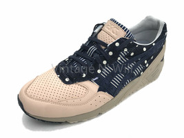 Asics Tiger Men 11 Gel Sight Japan Denim/ Leather Dot Stripe Retro Sneak... - $65.55