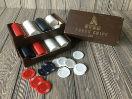 Vintage Stud Poker Chips 200 in a Box - $13.89