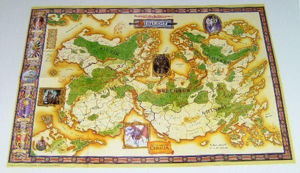 Advanceddungeonsdragons birthright 2sided yellowmap 1995 abt3121