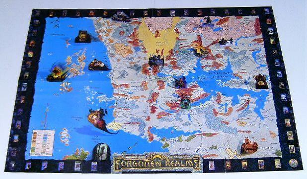 Forgottonrealms tsr 2sided bluemap 1996 abt3121