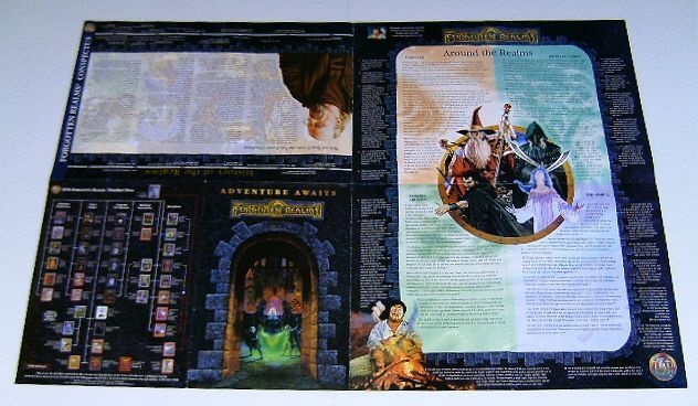 FORGOTTON REALMS TSR ROLE-PLAYING GAME PROMO POSTER:GAMING