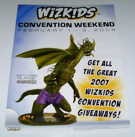 WIZKIDS FIN FANG FOOM MARVEL COMIC HEROCLIX TOY PROMO POSTER