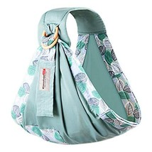 BUDOUMAMA Wrap Baby Carrier, Grey - Original Stretchy Infant Sling, Perfect for