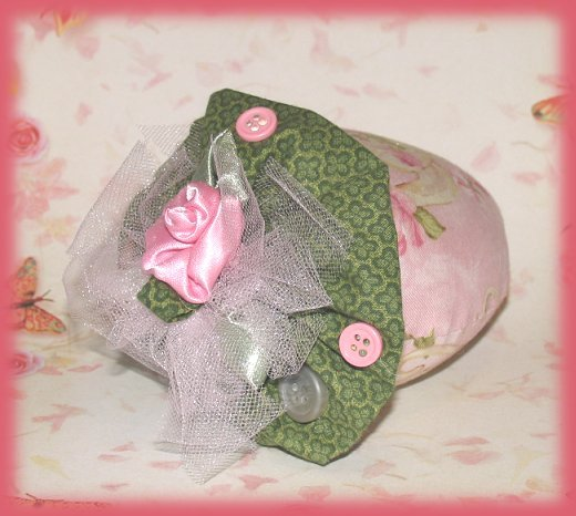 French Lavender Scent Sachet Mini Pillow Shabby Pink Teacup Rose Fabric