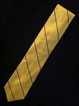 "TOMMY HILFIGER MENS NEW YELLOW 100% SILK CLASSIC NECK TIE WIDTH: 3 1/4"" - $32.15"