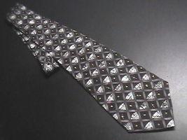 Nicole Miller Neck Tie Martinis Black Background Martini Glasses Olives 1996 - $10.99