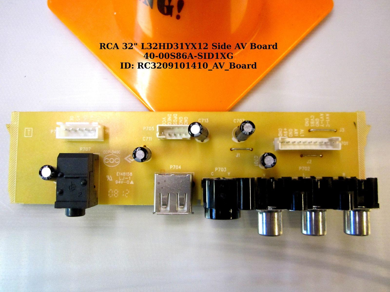 """RCA 32"""" L32HD31YX12 Side AV Board 40-00S86A-SID1XG"""